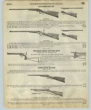 1918 PAPER AD Marble Game Getter Double Barrel Rifle Hamilton Boy Scout Military