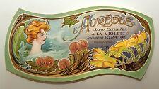 Soap Label L'AUREOLE Savon Extra-Fin a la Violette Art Nouveau