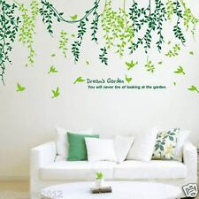 600*900mm Birds & Tree Vine Leaves Removable Wall Stickers Home Kids Living Room
