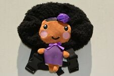 Handcrafted, Super Cute Black/ African American Backpack Doll (Purple)