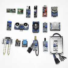 New 16 in 1 Modules Sensor Kit Learning Package for Arduino UNO R3 Mega2560