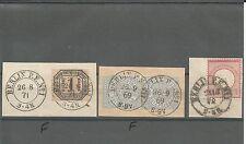 Preußen / BERLIN P. E. No 1, 26.9.69 (2 x auf Briefstück m. senkr. Paar NDP 17)