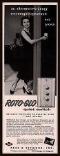 1955 B AD  PASS & SEYMOUR ROTO-GLO LIGHT SWITCH