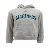 Seattle Mariners MLB Majestic Youth Kids Size Hooded Sweatshirt New with Tags