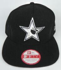 162509d1056 DALLAS COWBOYS NFL SNAPBACK RETRO NEW ERA 9FIFTY ALL BLACK CAP HAT NWT!
