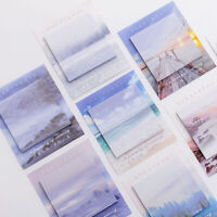 Creative Landscape Memo Pad Sticky Notebook Office School Supplies Stationery!