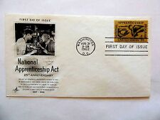 "August 31st, 1962 25th Anniversary ""National Apprenticeship Act"" 1st Day Issue"