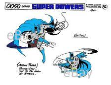 Super Powers BATMAN w BATARANGS MODEL SHEET PRINT Hanna Barbera
