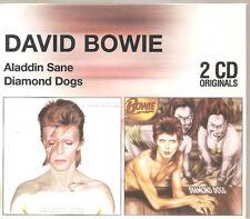 "DAVID BOWIE ""Aladdin Sane / Diamond Dogs"" 2CD Slipcase Box RARE"