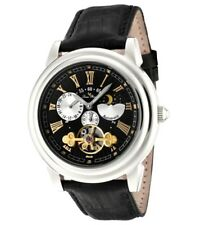 NIB LUCIEN PICCARD LUXURY Faux TOURBILLON Moon Phase AUTOMATIC MECHANICAL WATCH