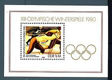 GERMANY - GERMANIA - DDR - BF - 1980 - Giochi olimpici invernali a Lake Placid