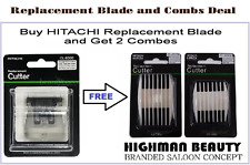 Hitachi CL-8300 Hair Clipper-Trimmer Replacement Blade Plus Two combs deal JAPAN