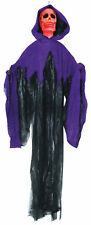 Hanging Skull Reaper Fire Ice & Purple Black Robe Scary Prop Sunstar Industries