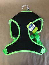 "New Top Paw Mesh Dog Harness Sz Extra Large Black Neon Green XL 33-39"" Walking"