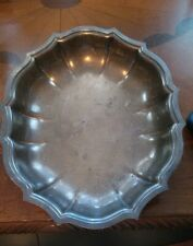 Chippendale International Silver Plated Scalloped Serving Bowl #695