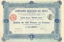 Compagnie Iberienne des Mines SA, accion, 1902