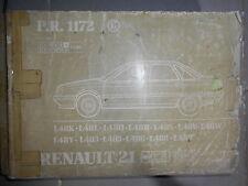 Renault 21 R21 coffre + 2L Turbo : catalogue pièces d'origine PR1172-6