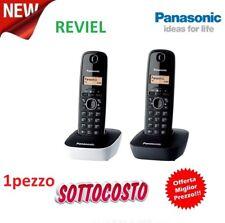 TELEFONO PANASONIC CORDLESS DIGITALE BIANCO O NERO NUOVO GARANZIA ITALIA RUBRICA