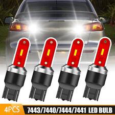 4X LED White Back Up Reverse Light Bulb Parking Tail Brake Signal 7443 7440 T20