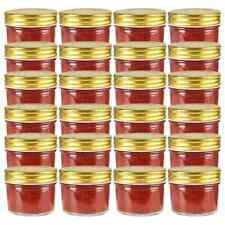 vidaXL 24x Jampot met Goudkleurige Deksel Glas Jampotten Glazen Opbergpot Pot