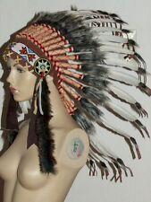 indianer,federhaube,warbonnet,42cm,32 federn,mandala,indianerschmuck,kopfschmuck