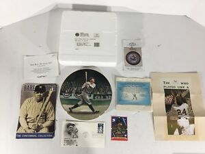 Babe Ruth Collectors Plate Delphi Baseball Card The Called Shot 50 Year Stamp