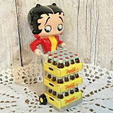 Betty Boop Coca Cola Ceramic Salt Shaker Figurine Coke Collectible Bottles 4.5""