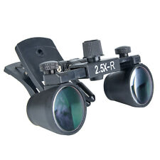 2.5X Magnifier Binocular Medical Dental Surgical Glasses Loupes Clip Mobile