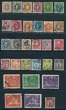 1891 - 1904 Sweden Early Issues (30); Mostly Used; Cv $47