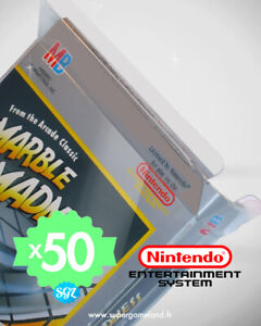 50 BOITIERS PROTECTION PROTECTIVE CASE NINTENDO NES 0,4 mm NEUFS