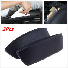 2Pcs PU Car Auto Seat Storage Box Catcher Gap Filler Coin Collector Cup Holder
