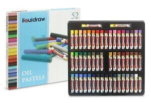 Liquidraw 52 Oil Pastels Set Soft Colouring Artists Drawing Sketching Painting