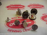 "5 x 14mm  JEAN FLY STUD BUTTONS ""HAMMER ON"" REPLACEMENT 5 SETS OF MATT COLOUR"