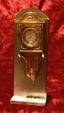 BULOVA MINIATURE GOLD PLATED WALL CLOCK#0532 (2PC) FROM JAPAN EXCELLENT CONDITIO