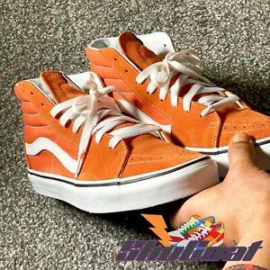 Vans high top Size 7.5 Men UK   8 US orange suede Used Shugoat Trainers/sneakers