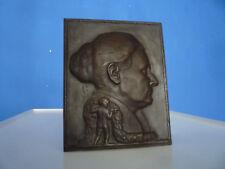 Seltenes Wandrelief Bronce von Bildhauer Fritz Wolber Signiert 1922