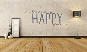 This is our happy place, home, family, heart, love, Wall sticker