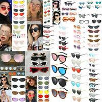 Fashion Women's Geometric Mirror Flat Lens Sunglasses Retro Eye Glasses Eyewear