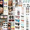 Fashion Women's Geometric Mirror Flat Lens Sunglasses Retro Eye Glasses Eyewear