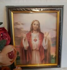 Sacred Heart Of Jesus Picture Frame Wood (10x12 inches) Brand New