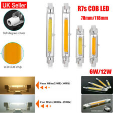 Dimmable R7s COB LED 78mm/118mmSecurity Flood Light Replaces Halogen Bulb 6W/12W