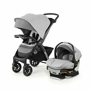 Chicco Bravo LE Trio Baby Stroller Travel System with Infant Car Seat - Grey