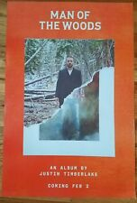 Justin Timberlake Man Of The Woods Record Release/Promotional Use Only! 24X36