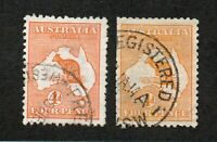 Australia - SG# 6 & 6a Used (short perfs on 6a)     -     Lot 0720159