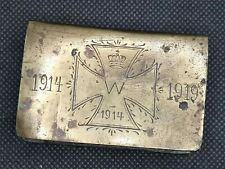 More details for ww1 army trench art matchbox holder 1914 to 1919