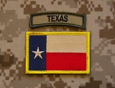 Texas State Flag & Multicam Texas Tab Set Lone State Patch Navy SEAL