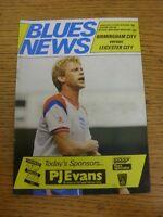 14/11/1987 Birmingham City v Leicester City  (Creased)