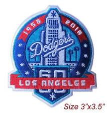 Los Angeles Dodgers Unveil 60th Anniversary Logo Embroidered Iron On Patch.