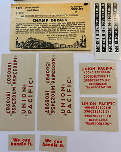 CHAMP O DECAL - UNION PACIFIC / UP HOOD DIESEL - Item #E-208