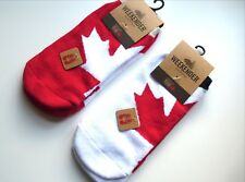 GO CANADA !! 2 PAIRS No Show Chuck Sneeker Socks One Size UNISEX Mens Womens